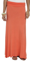 Wet Seal WetSeal Solid Foldover Maxi Skirt Surf The Web