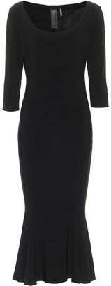 Norma Kamali Stretch-jersey midi dress