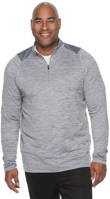Tek Gear Big & Tall Grid Fleece Quarter-Zip Pullover
