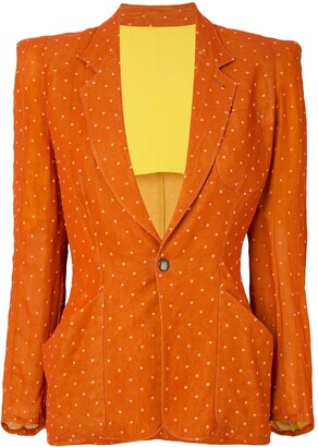 Jean Paul Gaultier Pre Owned Polka Dot Pattern Blazer