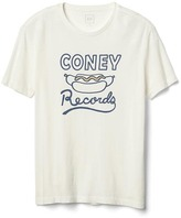 Gap Coney records hotdog crewneck tee