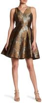 Yoana Baraschi Cafe Flore Stretch Brocase Fit & Flare Dress