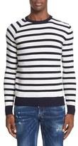 DSQUARED2 Men's Stripe Knit Wool Sweater