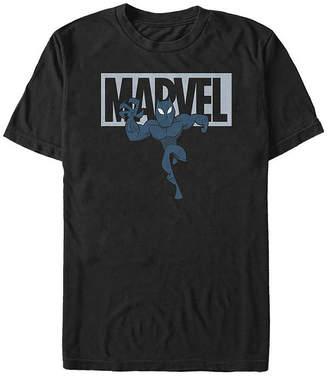 Fifth Sun Slim Black Panther Cartoon Logo Mens Crew Neck Short Sleeve Marvel Graphic T-Shirt