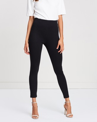 Atmos & Here Atmos&Here - Women's Black Leggings - Stacey Ponte Pants - Size 6 at The Iconic