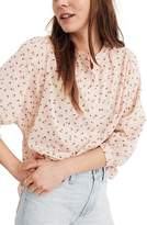 Madewell Delicate Floral Peasant Top