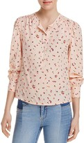Rebecca Taylor Mia Long Sleeve Floral Top