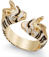 Thalia Sodi Gold-Tone Crystal and Enamel Zebra Bypass Ring, Only at Macy's
