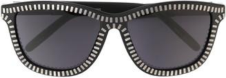 Linda Farrow Alexander Wang x zipper motif sunglasses