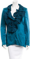 Ungaro Ruffle-Trimmed Linen Jacket w/ Tags