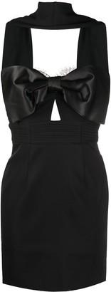 Self-Portrait Tailored Bow Mini Dress