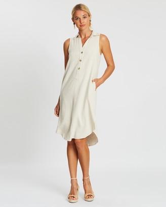 Staple The Label Raffia Midi Shirt Dress