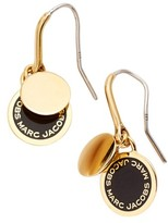 Marc Jacobs Women's Enamel Logo Disc Drop Earrings