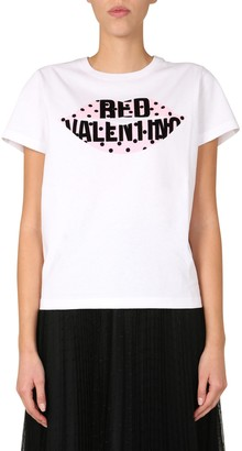 RED Valentino T-Shirt With Mouth Print