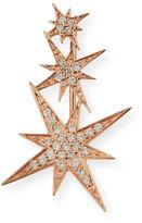 Sydney Evan Jewelry 14K Rose Gold Triple Diamond Starburst Ear Climber Earring