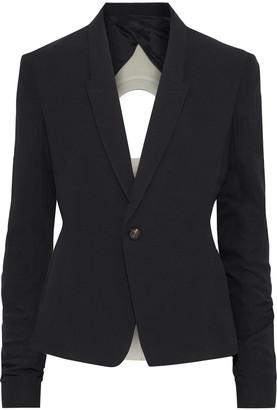 Rick Owens Cutout Crepe, Chiffon And Wool-blend Jersey Blazer