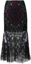 Jonathan Simkhai Lace Embroidered Sheer Skirt