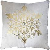 Gallery Large Snowflake Metallic Cushion 45x45cm