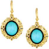Armenta 18k Turquoise & Moonstone Doublet Drop Earrings w/ Diamonds