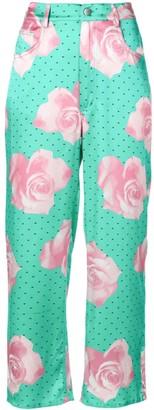 Fleur Du Mal Floral Printed Trousers