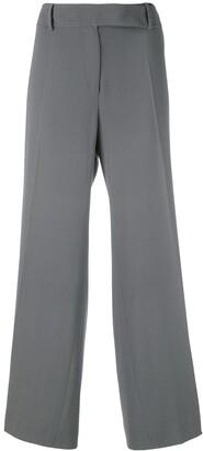 Giorgio Armani Pre Owned Pleated Cropped Trousers