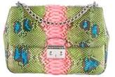 Christian Dior Miss Large Hand-Painted Python Flap