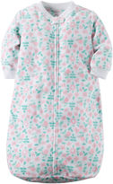 Carter's Floral Microfleece Sleepbag Sleepwear - Baby Girls one size fits newborn-9m