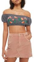 Topshop Women's Velvet Miniskirt