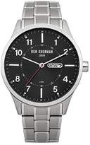 Ben Sherman Men's Quartz Watch with Black Dial Analogue Display and Silver Stainless Steel Bracelet WB002BM