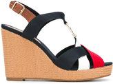 Tommy Hilfiger colourblock wedge sandals - women - Leather/Tactel/rubber - 36
