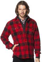 Chaps Men's Classic-Fit Plaid Microfleece Shirt Jacket