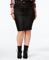 Melissa McCarthy Trendy Plus Size Coated Denim Skirt