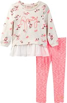 Juicy Couture Floral Tunic & Space Dye Legging Set (Toddler Girls)
