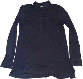 Whistles Navy Wool Top for Women