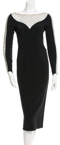 Jenny Packham Bead-Accented Evening Dress w/ Tags