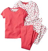 Carter's Baby Girl 4-Piece Pattern Pajama Set