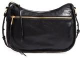 Hobo Karder Leather Crossbody Bag - Black