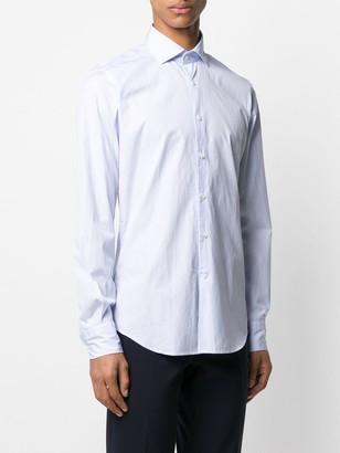 Glanshirt Spread-Collar Pinstriped Shirt