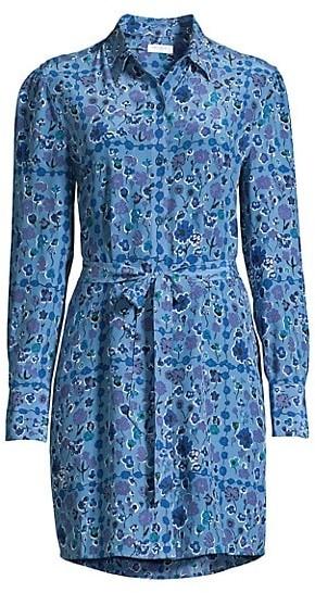 Equipment Rosalee Floral Silk Shirt Dress