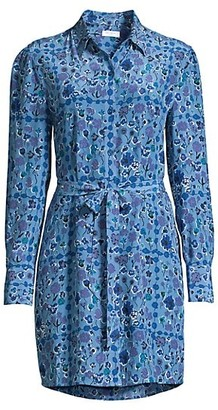 Equipment Rosalee Floral Silk Shirt Dress