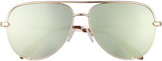 Quay High Key 68mm Aviator Sunglasses
