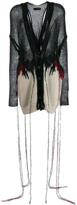 Isabel Benenato Destroyed Knit Cardigan