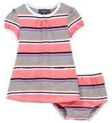 Toobydoo Danica Striped Pocket Dress (Baby & Toddler Girls)