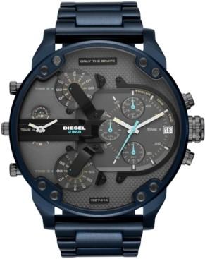 Diesel Men's Chronograph Mr. Daddy 2.0 Blue Stainless Steel Bracelet Watch 57mm