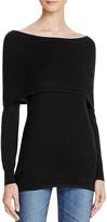 Aqua Off-The-Shoulder Sweater