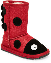 Emu Toddler Girls) Red & Black Lady Bird Sparkle Pull-On Boots