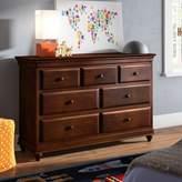 Virgil 7 Drawer Dresser Mistana Color: Cherry