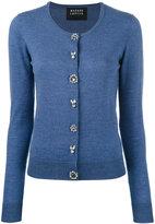 Markus Lupfer jewel button cardigan - women - Plastic/Merino - XS