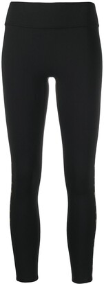 Reebok x Victoria Beckham Mid-Rise Logo-Print Leggings
