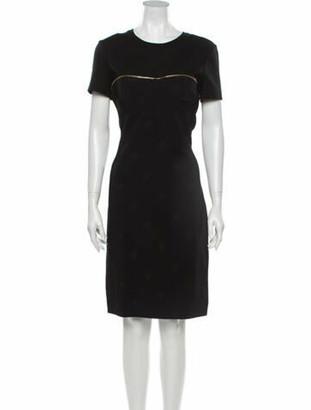 Brandon Maxwell Crew Neck Knee-Length Dress w/ Tags Black